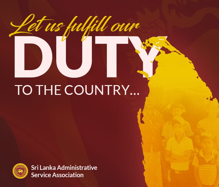 Let Us Fulfill Our Duty to The Country...